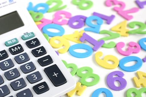数字の上の電卓